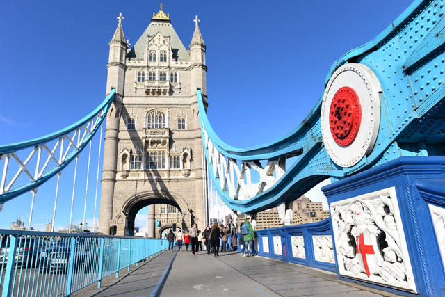 Crossing the Tower Bridge