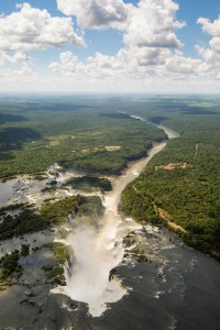 Overlooking Iguassu Falls on the border of Brazil and Argentina