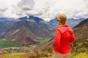 Overlooking the Andes Mountains of the Sacred Valley