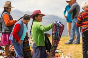 Colorful, traditional textiles crafted in the Sacred Valley