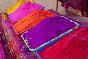 powder at Holi festival