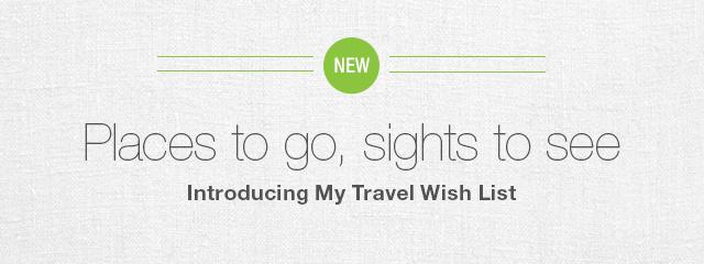 My Travel Wish List