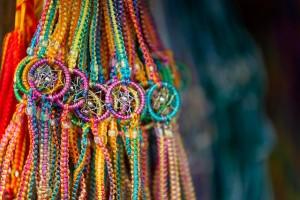 Colorful souvenirs in Quito, Ecuador