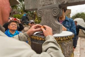 At the Equator in Quito, Ecuador