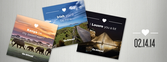 Tag your valentine on Facebook with our travel-inspired valentines.