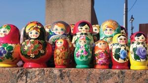 Nesting Dolls in St. Petersburg, Russia