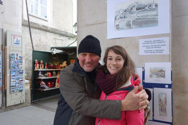Meeting a local artist