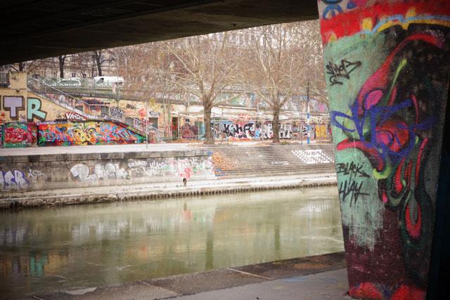 Graffiti along the Danue River Vienna