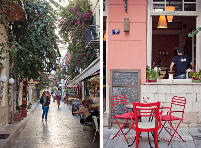 A street scene in Nafplio, Greece