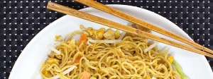 Long noodles are said to bring good luck during Chinese New Year.