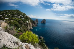 The cliffs of Capri