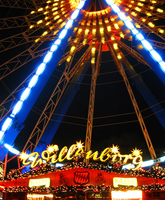 Ferris wheel at Berliner Weinachstmarkt Berlin Christmas Market Germany
