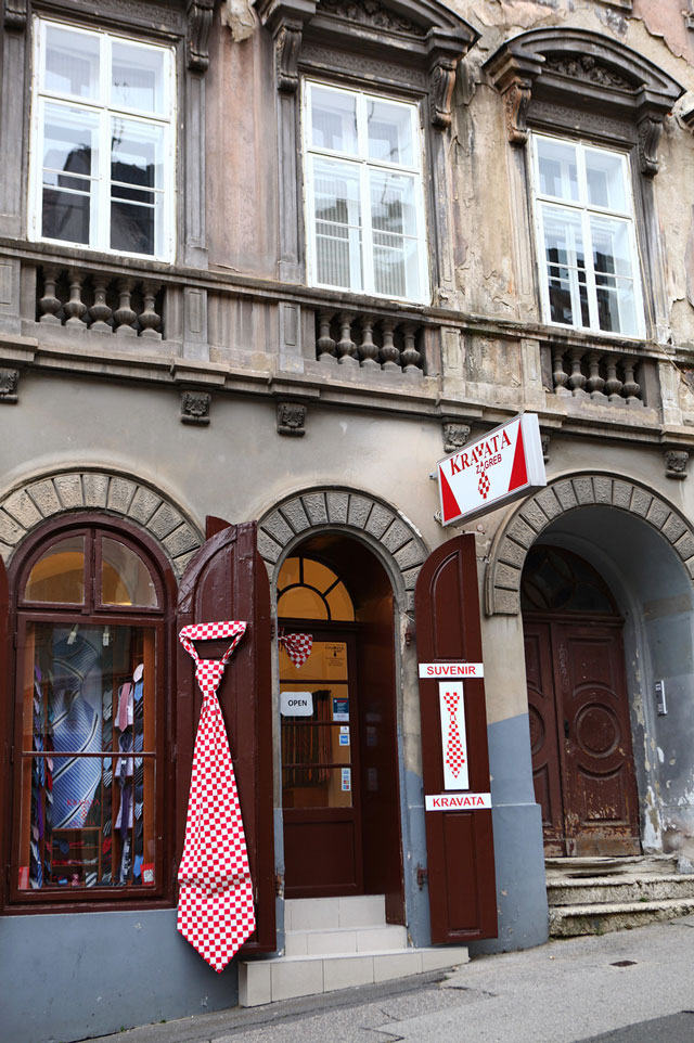 The necktie, Zagreb, Croatia