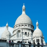 Sacre-Coeur Basilica sitting atop the highest point in Paris, France