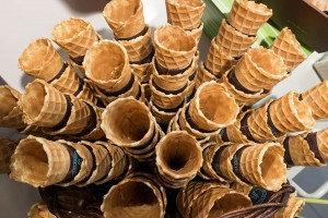 Homemade sugar cones at a market in Provence, France