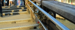 Snapshot: Love locks in Venice