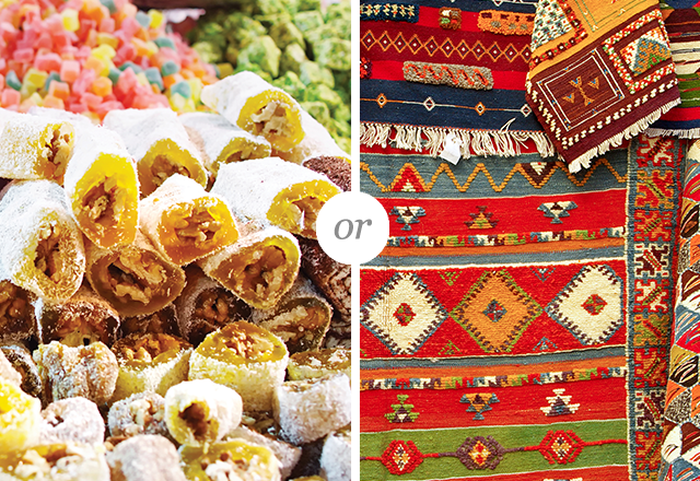 Turkish Delight or Kilim tapestries from Turkey.