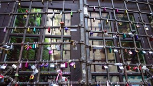 Love locks in Verona, Italy