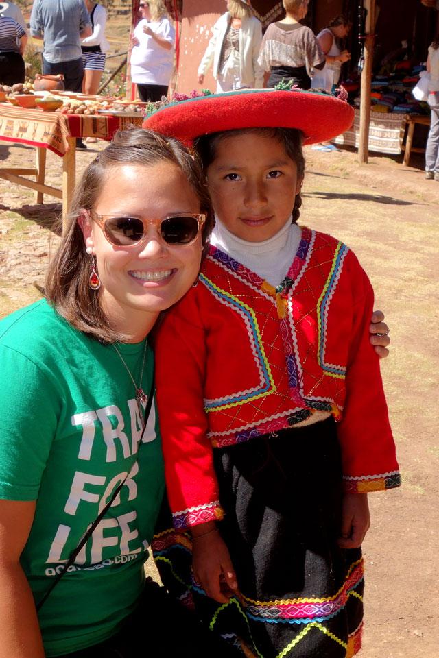Little girl in traditional Peruvian clothing, Chincheros Village, Peru