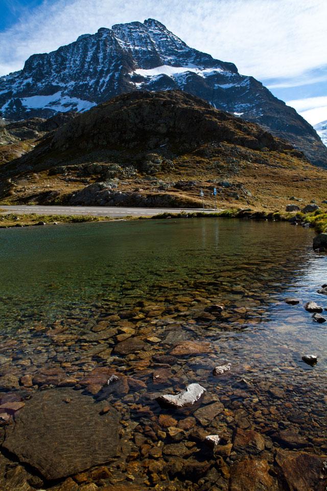 An alpine lake near the Swiss Alps