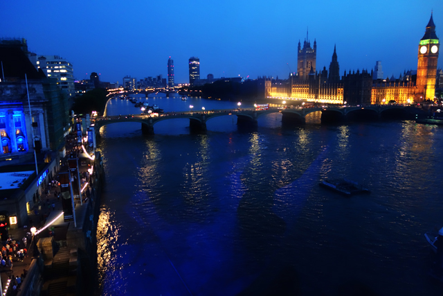 View from Millenium Eye, London, England