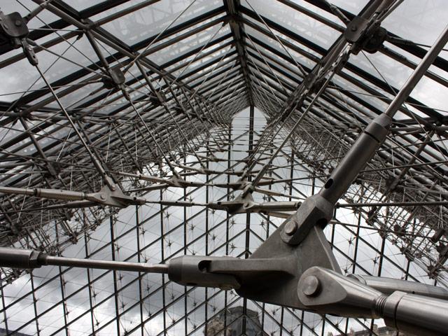The Louvre glass pyramid, Paris, France