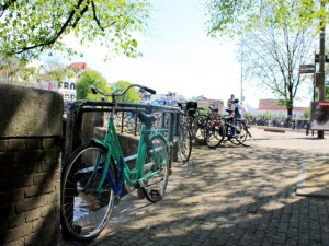 Bicycles in Amsterdam, Holland