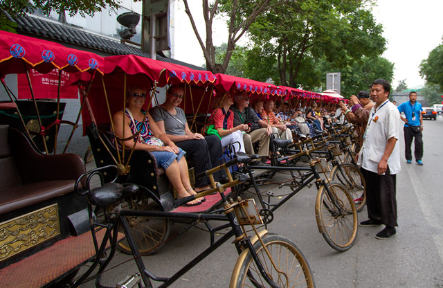 Rickshaw ride, Beijing, China