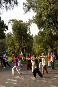 tai chi in the park, Beijing, China