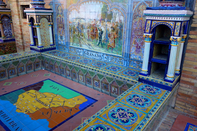 Granada-alcove-Plaza-de-Espana-Seville-Spain