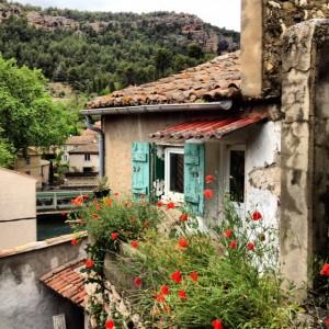 The Fontaine de Vaucluse on the Provence Walking Tour.