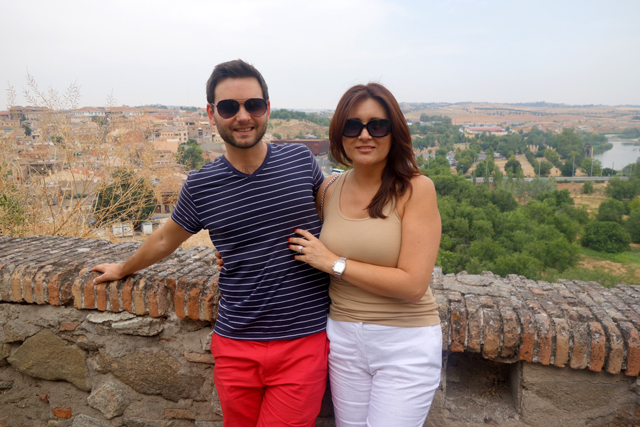 Paul and Maggie engaged in Toledo, Spain