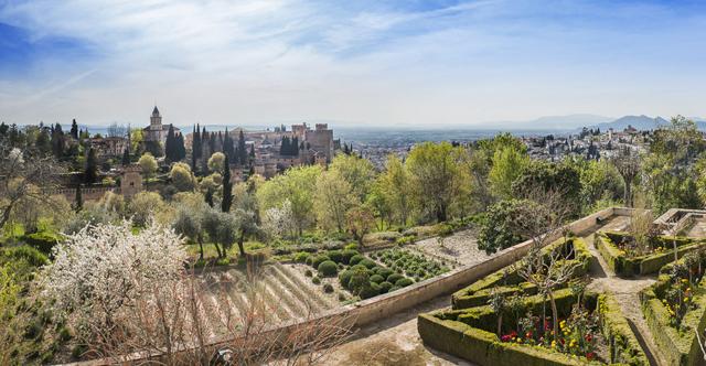 Palace Gardens, Granada, Spain