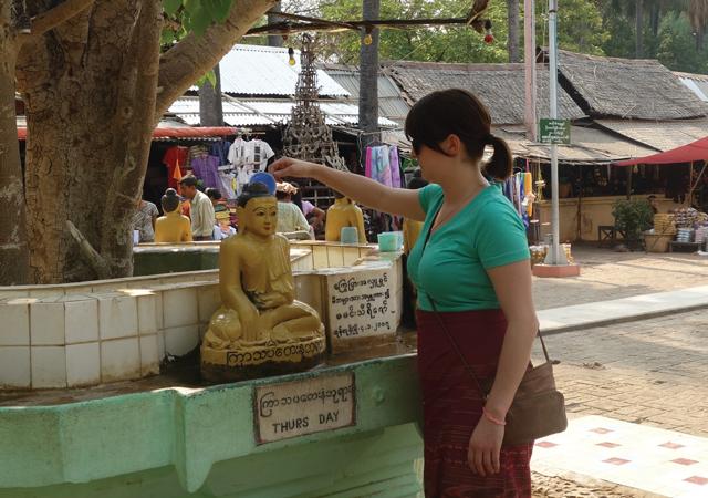 Bathing Buddha, Bagan, Myanmar