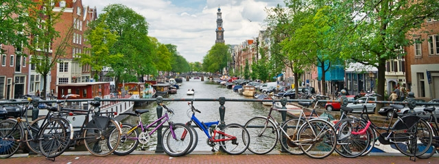 Bicycles in Amsterdam, the Netherlands