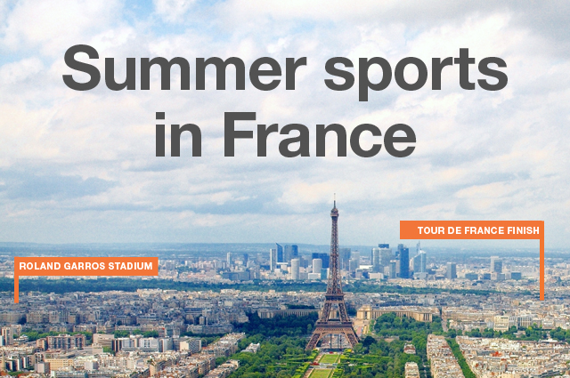 The French Open and Tour de France both take place in Paris, France.