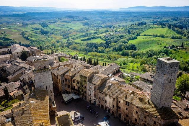San Gimignano landscape, Italy