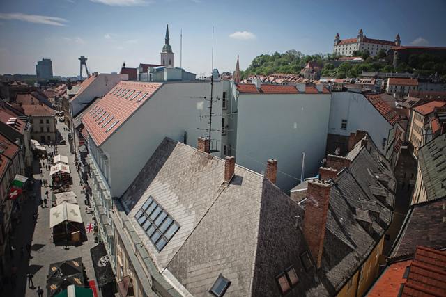 View from St. Michael's Tower, Bratislava by Cindy Giovagnoli