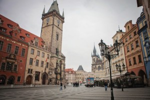 Astronomical Clock in Old Town Square, Prague, Czech Republic by Cindy Giovagnoli