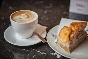 Coffee and Apple Cake from Cafe Parisi, Budapest, Hungary