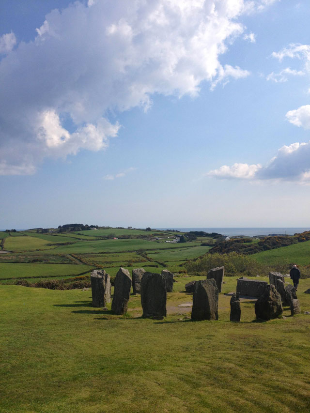 Drombeg Stone Circle in Cork County, Ireland
