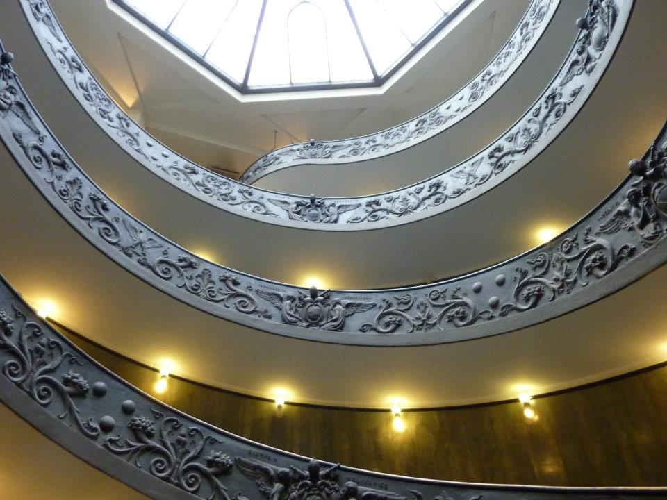 Staircase in the Vatican, Rome