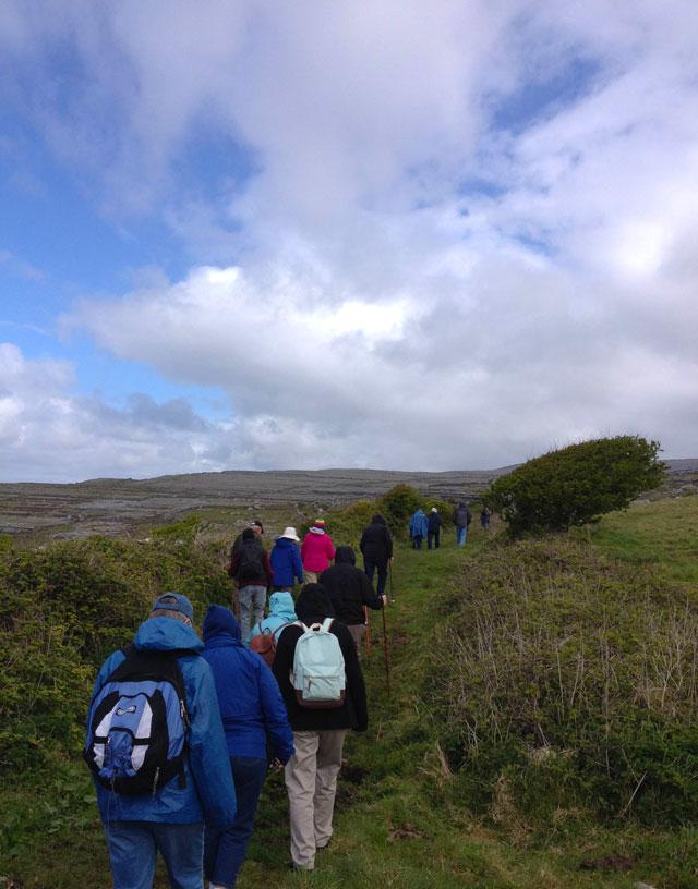 Walking through The Burren in Ireland