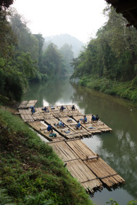 Bamboo rafts in Chiang Mai, Thailand