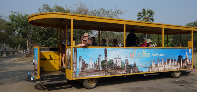 Trolley in Sukhothai Historical Park, Thailand