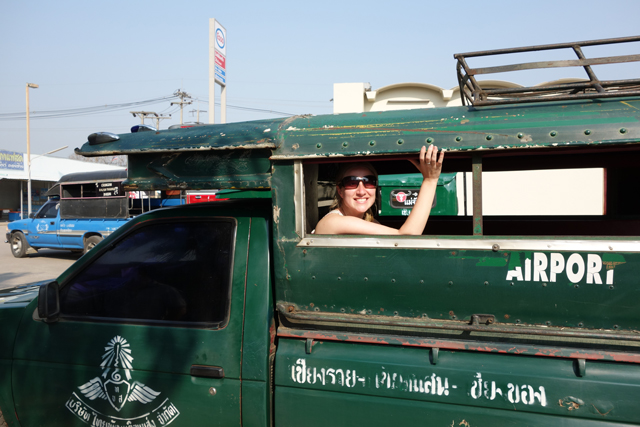 Truck ride in Chiang Rai, Thailand