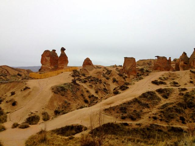 Camel rock formation in Cappadocia, Turkey