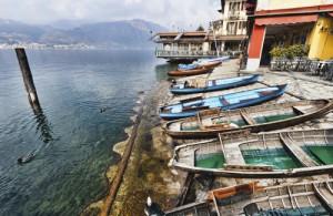 Lake Orta, Orta, San Giulio, A typical view of Lake Orta