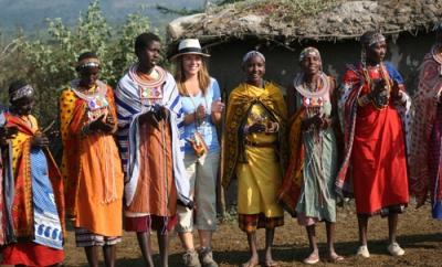 Maggie and the Masai, Maasai Mara, Kenya