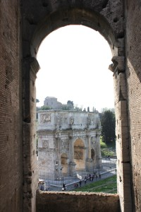 Colosseum, Ancient Gate, Rome, Italy